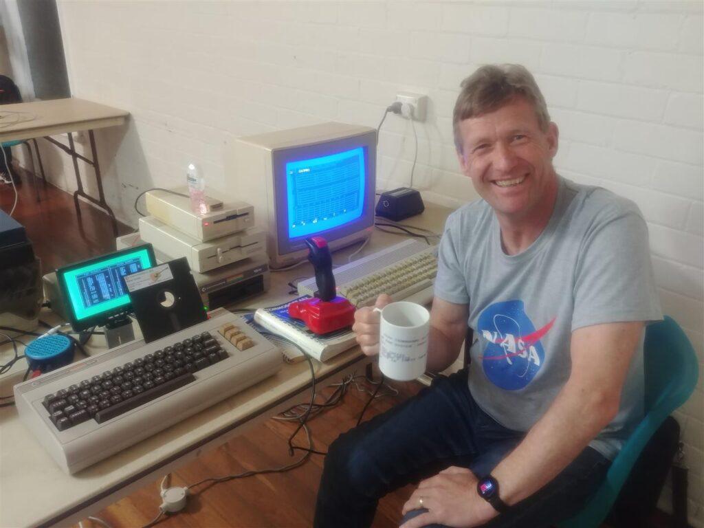 Steve Smit with C64